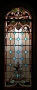 View  Glass Art Prints - Stained Glass LC 15 Print by Thomas Woolworth