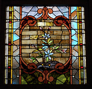 View  Glass Art Prints - Stained Glass LC 18 Print by Thomas Woolworth