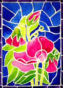 Janis Grau - Stained Glass Sweet Peas