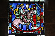 Cloisters Museum Prints - Stained Glass Window The Cloisters New York Print by Christiane Schulze