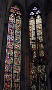 Stained Glass Art Metal Prints - Stained glass windows Metal Print by Suhas Tavkar