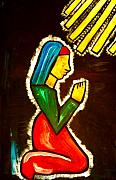 Mayan Paintings - Stained in Prayer by Sabrina Phillips