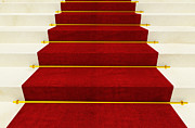 Award Framed Prints - Stair And Red Carpet Framed Print by Gualtiero Boffi