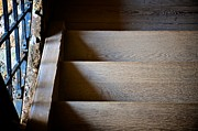 Wooden Stairs Prints - Stair Light Print by Catherine Murton