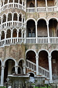 Intricacy Framed Prints - Staircase at Palazzo Contarini del Bovolo Framed Print by Sami Sarkis