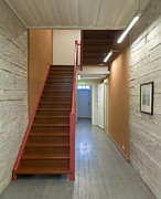 Cabin Wall Photos - Staircase In Old Building by Jaak Nilson