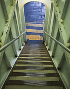 Passenger Ferry Prints - Staircase on Ferry Print by Paul Edmondson