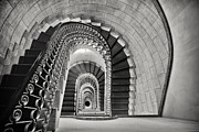 Architectural Elements Framed Prints - Staircase Perspective Framed Print by George Oze