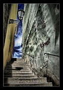 Praha Digital Art Prints - Stairs - Petr Nikl fotograf Praha Print by Petr Nikl