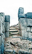35mm Prints - Stairs at Sacsayhuaman Print by Darcy Michaelchuk