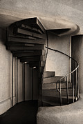 Adobe Building Prints - Stairs Print by Elena Nosyreva