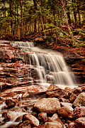 Franconia Notch Posters - Stairs Falls Poster by Heather Applegate