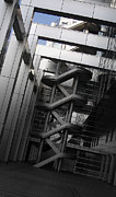 Downtown Stairs Metal Prints - Stairs Fuji Building Metal Print by Irina  March