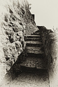 Stone Steps Framed Prints - Stairs Framed Print by Kurt Golgart