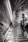 Stairs Of The Past Print by CJ Schmit