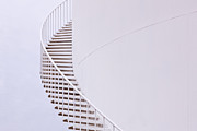 Storage Prints - Stairs on a Water Storage Tank Print by Jeremy Woodhouse