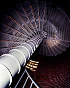 Spiral Staircase Photos - Stairs To The Light by Skip Willits