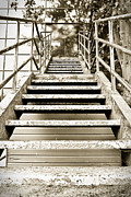 Escape Route Framed Prints - Stairs Framed Print by Tom Gowanlock