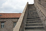 Red Roof Prints - Stairway in Dubrovnik Print by Madeline Ellis