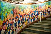 Stairway Mural At Montmartre Metro Exit Print by Jon Berghoff