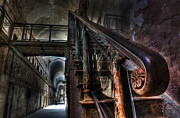 Shock Framed Prints - Stairway Of Terror - Eastern State Penitentiary Framed Print by Lee Dos Santos