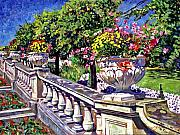 Stairway Of Urns Print by David Lloyd Glover