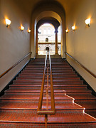 National Building Museum Photos - Stairway to Balcony by Steven Ainsworth