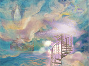 Stairway To Heaven Digital Art Posters - Stairway to Heaven Poster by Anne Cameron Cutri