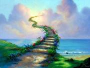 Stairway To Heaven Paintings - Stairway to Heaven by Jim Warren