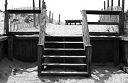 Beachscape Prints - Stairway to LBI Heaven Print by John Rizzuto