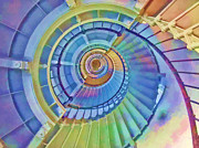 Magazine Cover Digital Art - Stairway to Lighthouse Heaven by Deborah Boyd