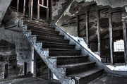 Dreary Prints - Stairway to Ruin Print by Andrew Pacheco
