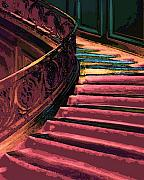 Bannister Digital Art Posters - Stairway to Somewhere Poster by Lyle  Huisken