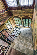 Hall Pyrography Prints - Stairways Print by Andreas Jancso