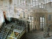 Mansion Digital Art - Stairwell by Brut carniollus