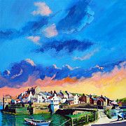 Uk Art - Staithes at sundown by Neil McBride
