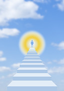 Stairway To Heaven Digital Art Posters - Staiway to heaven Poster by Igor Sinitsyn