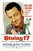 Films By Billy Wilder Framed Prints - Stalag 17, Poster Art, William Holden Framed Print by Everett