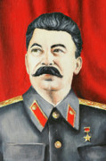 Leftist Framed Prints - Stalin Framed Print by Michal Boubin