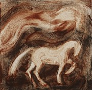 White Horse Painting Originals - Stallion by Sophy White