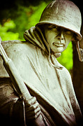 Korean War Memorial Photos - Stalwart Soldier by Christi Kraft