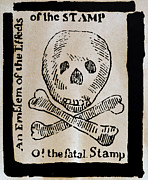 Woodcut Photo Framed Prints - Stamp Act: Cartoon, 1765 Framed Print by Granger