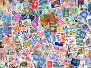 Postage Stamps Posters - Stamp Collection . 9 to 12 Proportion Poster by Wingsdomain Art and Photography