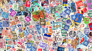 Kitsch Prints - Stamp Collection . 9 to 16 Proportion Print by Wingsdomain Art and Photography