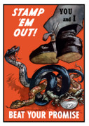 Bullfrog Posters - Stamp Em Out Beat Your Promise Poster by War Is Hell Store