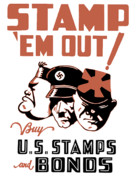 Adolf Framed Prints - Stamp Em Out  Framed Print by War Is Hell Store