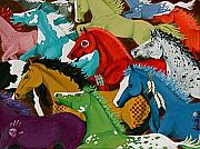 Mustang Mixed Media - Stampede by Shellby Young