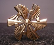 Pinwheels Jewelry Metal Prints - Stampings 12 Metal Print by Dwight Goss