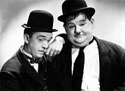 Pondering Photo Prints - Stan Laurel, Oliver Hardy Laurel & Hardy Print by Everett