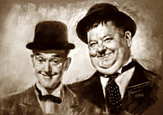 Hardy Drawings - Stan Laurel  Oliver Hardy by Ylli Haruni